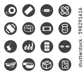 tape icon set vector   Shutterstock .eps vector #598291616