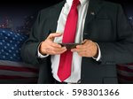 closeup of a united states of... | Shutterstock . vector #598301366