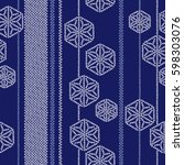 japanese style tradition pattern   Shutterstock .eps vector #598303076