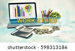 business concept images with... | Shutterstock . vector #598313186