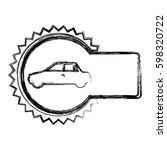 monochrome sketch of circular... | Shutterstock .eps vector #598320722