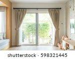 curtain interior decoration in...   Shutterstock . vector #598321445