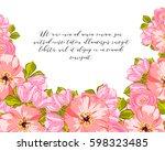 vintage delicate invitation... | Shutterstock . vector #598323485