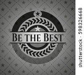 be the best dark emblem | Shutterstock .eps vector #598326668