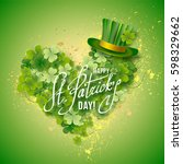 saint patricks day card with... | Shutterstock .eps vector #598329662