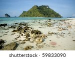 Clear water in tup island south of Thailand - stock photo