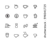 coffee icons set vector. | Shutterstock .eps vector #598341725