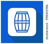 barrel vector icon  beer symbol.... | Shutterstock .eps vector #598341986