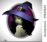 illustration of a sexy witch   Shutterstock .eps vector #59835829