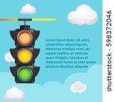 traffic light sky background...   Shutterstock .eps vector #598372046