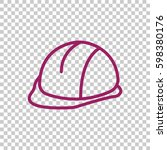 hard hat icon flat. | Shutterstock .eps vector #598380176