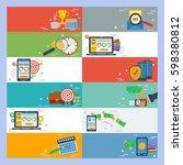 vector horizontal banners time... | Shutterstock .eps vector #598380812