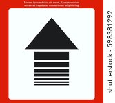 arrow indicates the direction ... | Shutterstock .eps vector #598381292