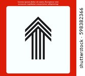arrow indicates the direction ... | Shutterstock .eps vector #598382366