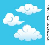 vector of clouds isolated on... | Shutterstock .eps vector #598387322
