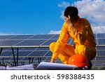 engineering employee man sad...   Shutterstock . vector #598388435