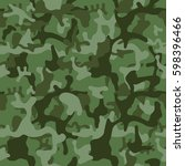 military green camouflage. camo ... | Shutterstock .eps vector #598396466