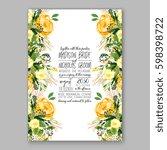 wedding invitation card... | Shutterstock .eps vector #598398722