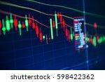 stock market chart stock market ... | Shutterstock . vector #598422362