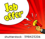 job offer advertisement poster. ... | Shutterstock .eps vector #598425206