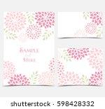 set vector illustration pink... | Shutterstock .eps vector #598428332
