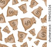 seamless money pattern | Shutterstock .eps vector #598431326