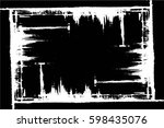 grunge black and white urban... | Shutterstock .eps vector #598435076