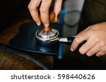 coffee making process. | Shutterstock . vector #598440626