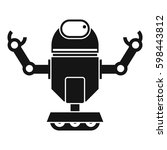 robot on wheels icon. simple... | Shutterstock . vector #598443812