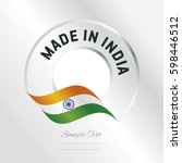 made in india transparent logo... | Shutterstock .eps vector #598446512