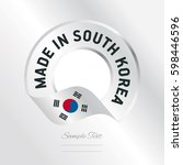 made in south korea transparent ... | Shutterstock .eps vector #598446596