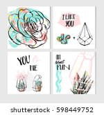 hand drawn vector abstract save ... | Shutterstock .eps vector #598449752