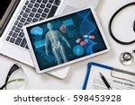 medical technology concept ...   Shutterstock . vector #598453928