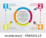 infographics with round design... | Shutterstock .eps vector #598465115