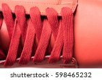 fashion shoes with shoestring.... | Shutterstock . vector #598465232