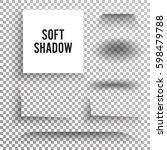 transparent soft shadow vector. ... | Shutterstock .eps vector #598479788