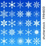 set of 25 winter snowflake... | Shutterstock .eps vector #5984833