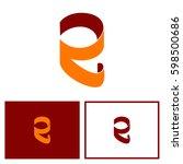 letter r in roll paper logo | Shutterstock .eps vector #598500686