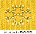 cellular family tree. genus... | Shutterstock .eps vector #598505072