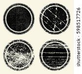 set of templates of round retro ... | Shutterstock .eps vector #598517726