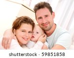 young  happy family in a room... | Shutterstock . vector #59851858