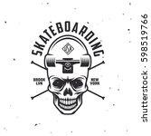 skateboarding t shirt design....   Shutterstock .eps vector #598519766