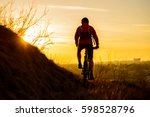 silhouette of enduro cyclist... | Shutterstock . vector #598528796