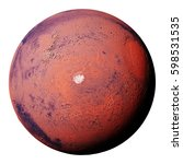 mars with the red planet's... | Shutterstock . vector #598531535