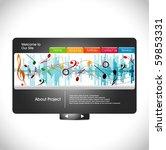 website design template  vector ...   Shutterstock .eps vector #59853331