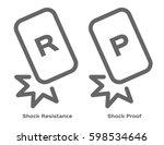 shock resistance icon . vector | Shutterstock .eps vector #598534646