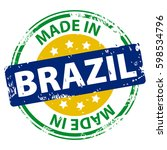 made in the brazil rubber stamp ... | Shutterstock . vector #598534796