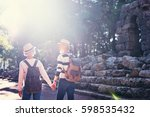 travel and tourism. senior... | Shutterstock . vector #598535432