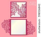 vector die laser cut envelope... | Shutterstock .eps vector #598536842