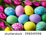 Easter Background With Hand...